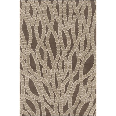 Purdue Hand Tufted Wool Brown/Tan Area Rug