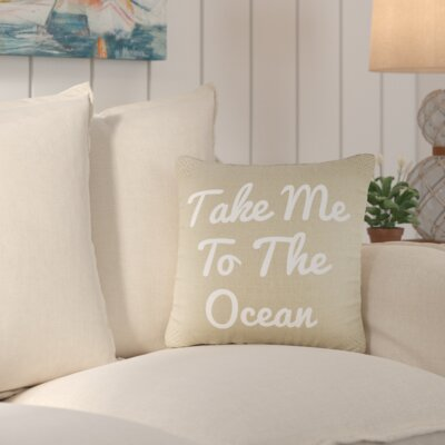 Brownsdale Ocean Wishes Burlap Throw Pillow Color: Natural