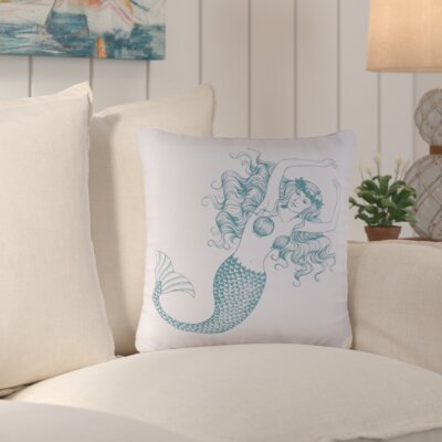 Cavender Mermaid 100% Cotton Throw Pillow
