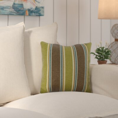Zoraida Indoor/Outdoor Throw Pillow Color: Echo Stipe Truffle