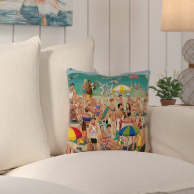Makarand Outdoor Throw Pillow Size: 16 H x 16 W x 4 D