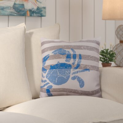 Solana Rain Crab Outdoor Throw Pillow Size: 18 W x 18 D