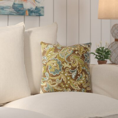 Zoraida Indoor/Outdoor Throw Pillow Color: Cashel Truffle