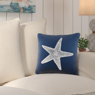 Winchester Cotton Throw Pillow Color: Navy