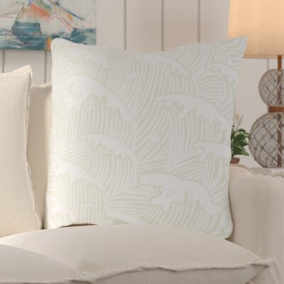 Solana Waves Of Grace Outdoor Throw Pillow Size: 18 W x 18 D, Color: Mint
