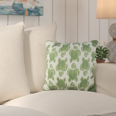Sandlewood Turtles Cotton Throw Pillow Color: Green