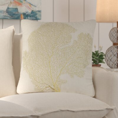 Pebble Creek Indoor Outdoor Throw Pillow Color: Beach Lime
