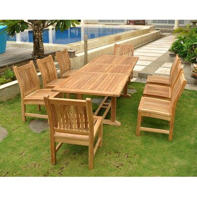 Farnam 9 Piece Teak Wood Dining Set