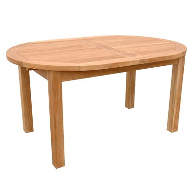 Milena Oval Extension Dining Table Table Size: 78 L 58 W