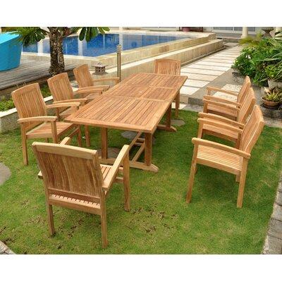 Farnam 9 Piece Wood Dining Set