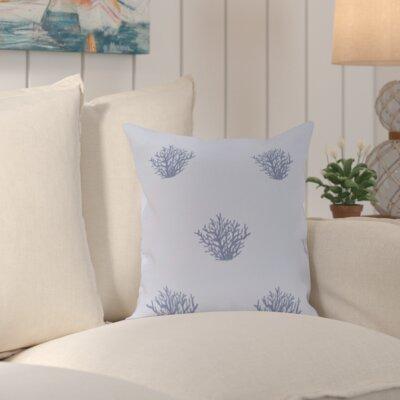 Cypress Lake Coastal Print Outdoor Pillow Color: Blue, Size: 18 H x 18 W x 1 D