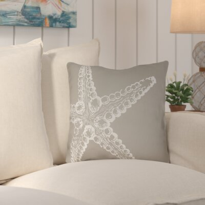 Brookline Nautical III Indoor/Outdoor Throw Pillow Size: 18 H x 18 W x 4 D, Color: Brown