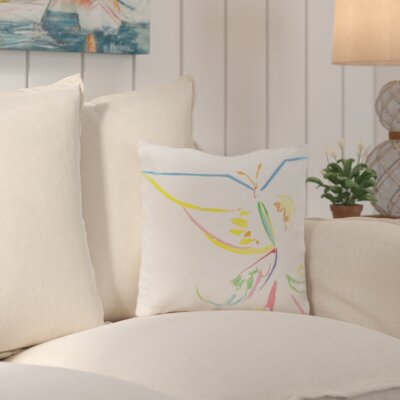 Suffolk Outdoor Throw Pillow Color: White