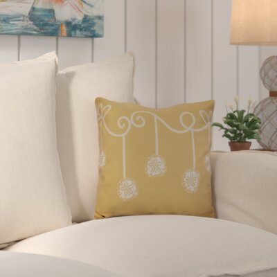 Highland Park Decorative Holiday Geometric Print Throw Pillow Size: 16 H x 16 W, Color: Gold