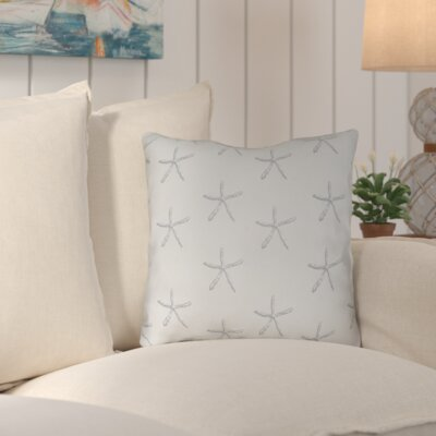 Brookline Coastal Indoor/Outdoor Throw Pillow Size: 18 H x 18 W x 4 D, Color: Grey