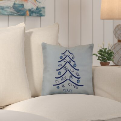 Decorative Holiday Geometric Print Throw Pillow Size: 26 H x 26 W, Color: Light Blue