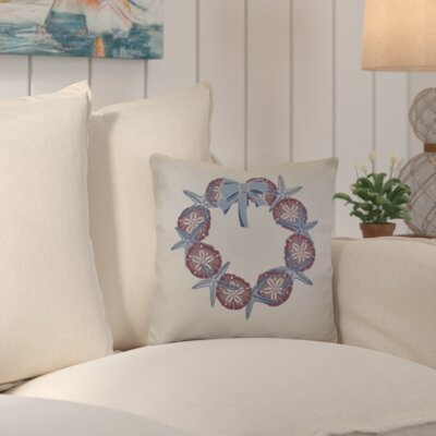 Decorative Holiday Geometric Print Throw Pillow Color: Blue, Size: 18