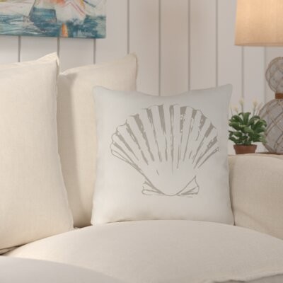 Brookline Shells II Indoor/Outdoor Throw Pillow Size: 20 H x 20 W x 4 D, Color: Green