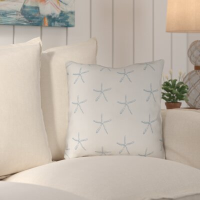 Brookline Coastal Indoor/Outdoor Throw Pillow Size: 18 H x 18 W x 4 D, Color: Light Blue