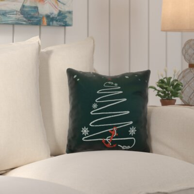 Decorative Holiday Geometric Print Throw Pillow Color: Dark Green, Size: 20 H x 20 W