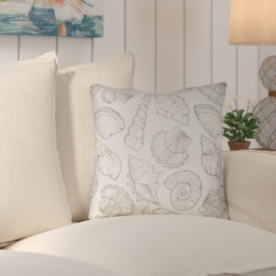 Brookline Shells III Indoor/Outdoor Throw Pillow Size: 18 H x 18 W x 4 D, Color: Neutral