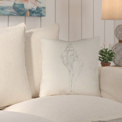 Brookline Shells Indoor/Outdoor Throw Pillow Size: 20 H x 20 W x 4 D, Color: Grey