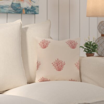 Cypress Lake Coastal Outdoor Throw Pillow Color: Beige