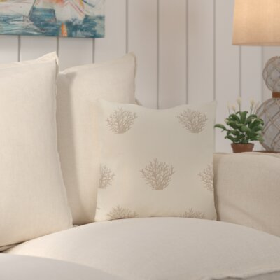 Cypress Lake Coastal Outdoor Throw Pillow Color: Taupe