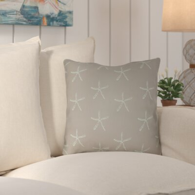 Brookline Coastal Indoor/Outdoor Throw Pillow Size: 20 H x 20 W x 4 D, Color: Brown