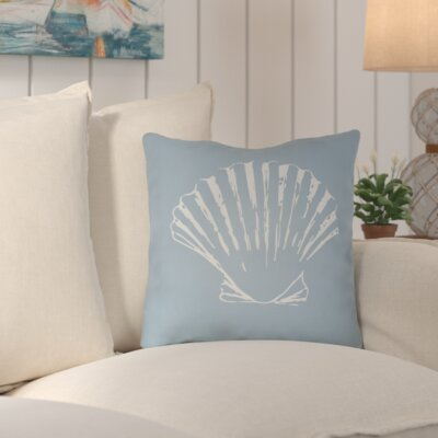Brookline Shells II Indoor/Outdoor Throw Pillow Size: 20 H x 20 W x 4 D, Color: Gray