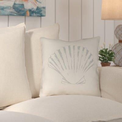 Brookline Shells II Indoor/Outdoor Throw Pillow Size: 18 H x 18 W x 4 D, Color: Yellow