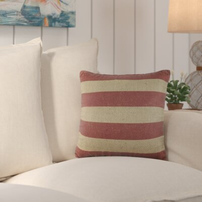 Marlin Burlap Throw Pillow Color: Red