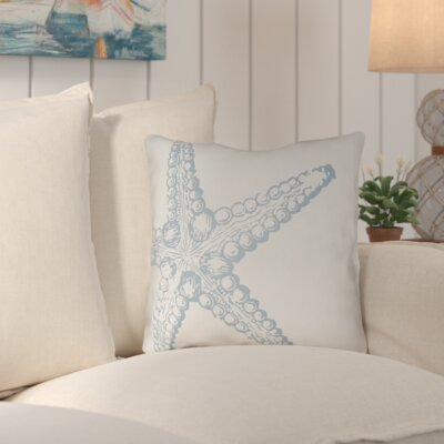 Brookline Nautical III Indoor/Outdoor Throw Pillow Size: 18 H x 18 W x 4 D, Color: Light Blue