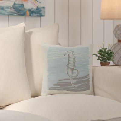 Suffolk Outdoor Throw Pillow Color: Blue