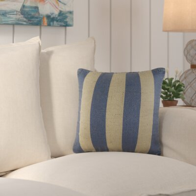 Marlin Burlap Throw Pillow Color: Blue
