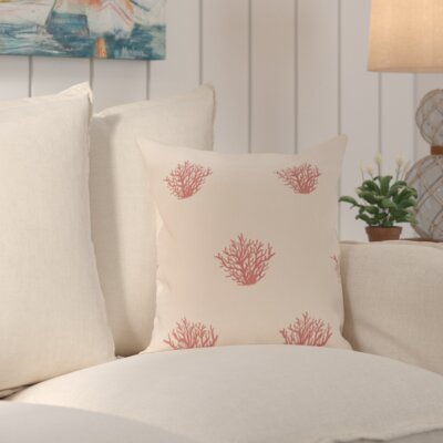Cypress Lake Coastal Print Outdoor Pillow Color: Red, Size: 18 H x 18 W x 1 D