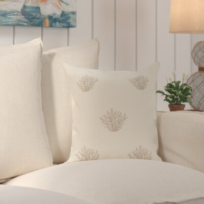 Cypress Lake Coastal Print Outdoor Pillow Size: 18 H x 18 W x 1 D, Color: Taupe