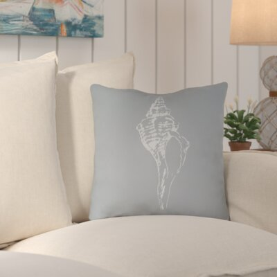 Brookline Shells Indoor/Outdoor Throw Pillow Size: 20 H x 20 W x 4 D, Color: Slate