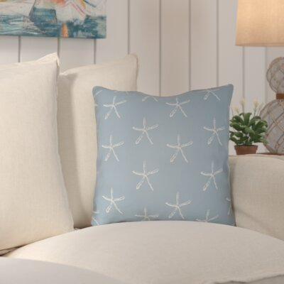 Brookline Coastal Indoor/Outdoor Throw Pillow Size: 18 H x 18 W x 4 D, Color: Dark Blue