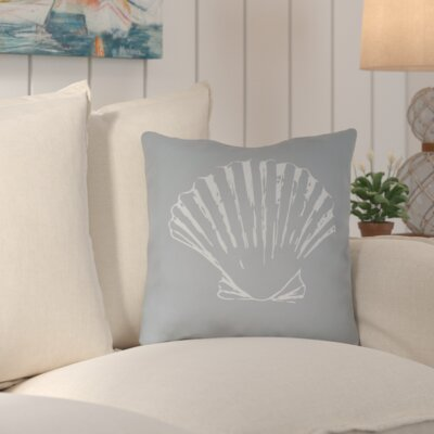 Brookline Shells II Indoor/Outdoor Throw Pillow Size: 18 H x 18 W x 4 D, Color: Blue