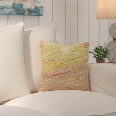 Suffolk Outdoor Throw Pillow Color: Red