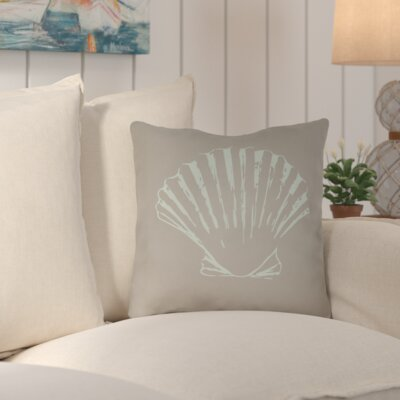 Brookline Shells II Indoor/Outdoor Throw Pillow Size: 18 H x 18 W x 4 D, Color: Brown