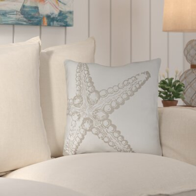 Brookline Nautical III Indoor/Outdoor Throw Pillow Size: 18 H x 18 W x 4 D, Color: Neutral
