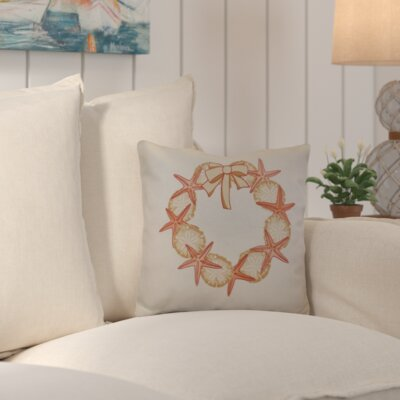 Decorative Holiday Geometric Print Throw Pillow Size: 18 H x 18 W, Color: Coral