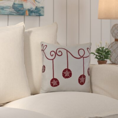 Highland Park Decorative Holiday Geometric Print Throw Pillow Size: 18 H x 18 W, Color: Cranberry