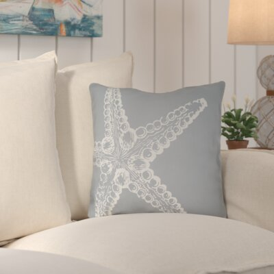 Brookline Nautical III Indoor/Outdoor Throw Pillow Size: 18 H x 18 W x 4 D, Color: Blue