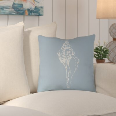 Brookline Shells Indoor/Outdoor Throw Pillow Size: 20 H x 20 W x 4 D, Color: Blue