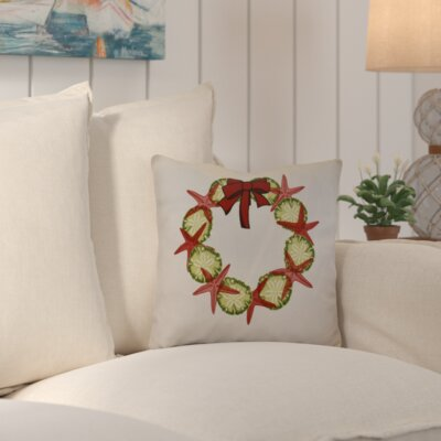 Decorative Holiday Geometric Print Throw Pillow Size: 16 H x 16 W, Color: Red