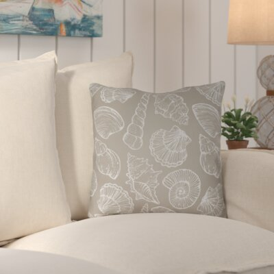 Brookline Shells III Indoor/Outdoor Throw Pillow Size: 18 H x 18 W x 4 D, Color: Brown