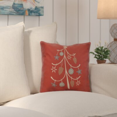 Decorative Holiday Geometric Print Throw Pillow Size: 20 H x 20 W, Color: Coral